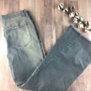 Free People High Waist Bell Bottom Gray Jeans Tall